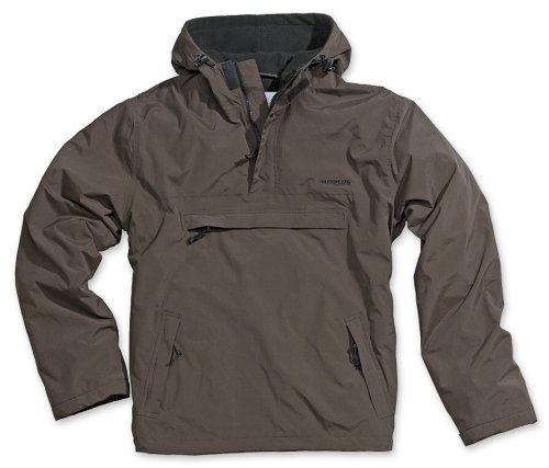 Brown Hombre Para Larga de Windbreaker Surplus Marrón Manga Chaqueta FTgq8