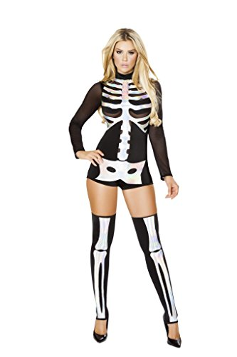 Roma Costume 4760 Jackie Skeleton Costume (Jackie In The Box Costume)