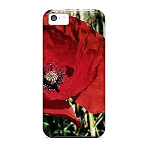 Hot Covers Cases For Iphone/ 5c Cases Covers Skin - Red Poppy Flower