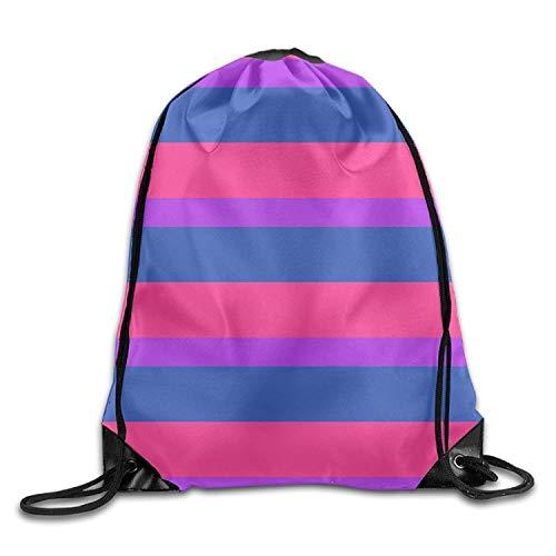 PIHJE - Mochila deportiva con cordón para hombre y mujer, diseño de bandera del orgullo bisexual