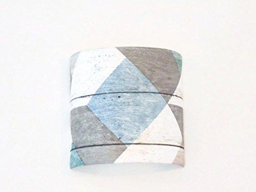 Applique murale demi cylindre Luminaire parquet - pastel bleu gris vert géométrique scandinave 1/2 lune personnalisée idée cadeau anniversaire hygge zen scandinave décoration abat-jour taille personnalisée