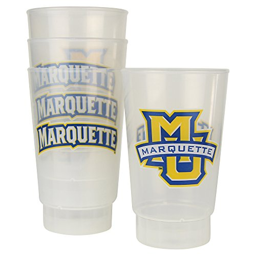 NCAA Frosted Plastic Tailgating Cups, 16oz.(4-Pack) (Marquette Golden Eagles) - Frosted Eagle
