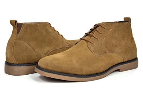 (Bruno Marc Men's Chukka Tan Suede Leather Chukka Desert Oxford Ankle Boots - 13 M)