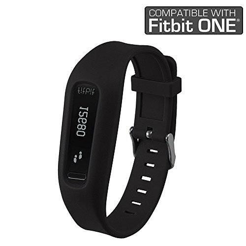 Fitbit One Band/Fitbit One Clip, HWHMH Replacement Band/Replacement Clip Holder for Fitbit One (No tracker) (Black)