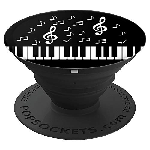 Piano Recital Keyboard Gift Music Notes Lover Pianist - PopSockets Grip and Stand for Phones and Tablets