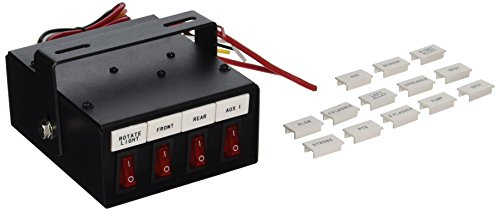 Buyers Products 6391104 Illuminated 4-Function On Switch Box (Electric Box Switch)