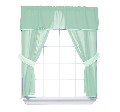 baby doll solid window valance