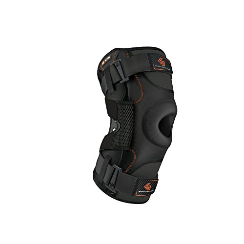 Hinged Knee Brace: Shock Doctor Maximum Support Compression Knee Brace - For ACL/PCL Injuries, Patella Support, Sprains, Hypertension and More for Men and Women - (1 Knee Brace, Large) ()