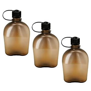 Nalgene Oasis 1qt Canteen Bottle 3 Pack (Coyote)