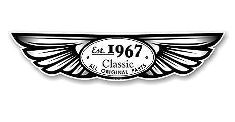 Establecido 1967 Tradicional Con Alas Emblema Diseñado Para ...