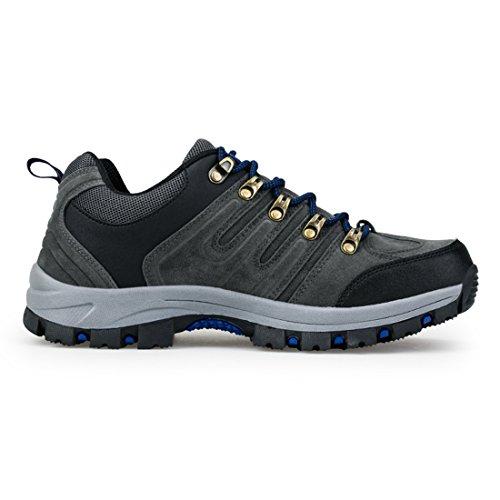 Zapatillas de deporte para hombre con zapatos antideslizantes antideslizantes al aire libre gris