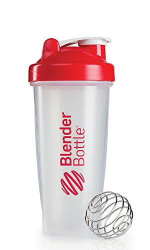 2 x 28 oz. Blender Bottle Classic No Loop Protein Shaker Blue Red Whisk Ball New