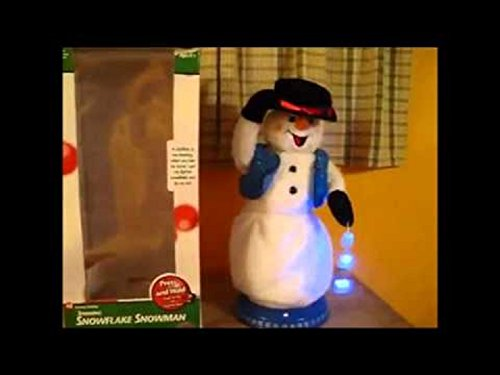 Gemmy Holiday Spinning Snowflake Snowman ()
