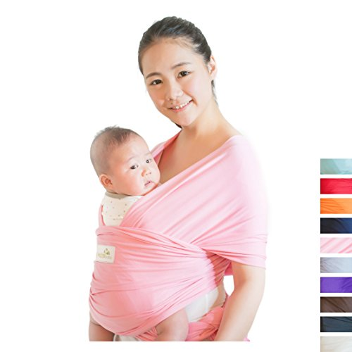 Pink Baby Sling (Baby Wrap Carrier,Beechtree Baby Natural Cotton Baby Wrap,Soft Comfortable Breathable Baby Sling Nursing Cover for Infants and Newborn, Breastfeeding Sling Baby Holder,Perfect Baby Shower Gift (pink))