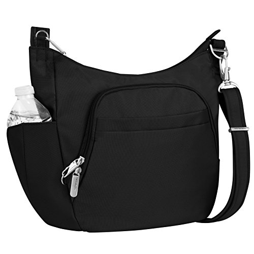 Travelon Anti-Theft Cross-Body Bucket Bag, Black, One Size ()