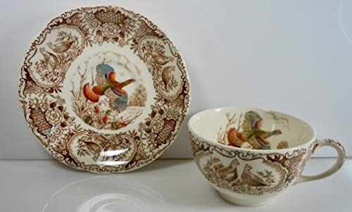 Johnson Brothers Wild Turkeys Native American Cup and Saucer Set