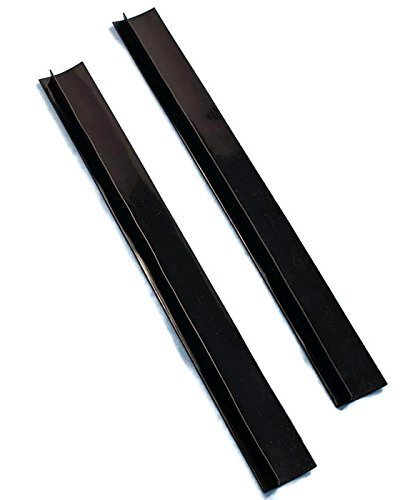 Set Of 2 Black Silicone Counter Gap Covers