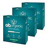 o.b. Organic Tampons with New Plant-Based Applicator*, 100% Organic Cotton Core, Super, 18 Count (Pack of 3)