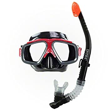 Intex - Tubo y máscara buceo policarbonato surf rider + 8 años (55949)
