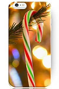 """ZLXUSA(TM) New Personalized Hard Rainbow Color Candy for Apple 6 Plus (5.5"""") Christmas for iPhone Case"""