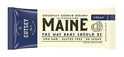 Gutsey Maine Travel Bar, Coconut Cookie Dough, Gluten Free, Vegan, Pea Protein (12 bars)