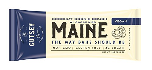 Gutsey Maine Travel Bar, Coconut Cookie Dough, Gluten Free, Vegan, Paleo, Pea Protein (12 bars) Review