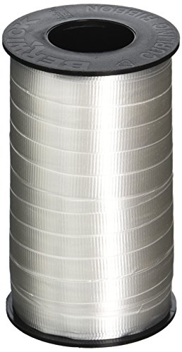 Berwick 3/8-Inch Wide by 250 Yard Spool Super Curl Crimped Splendorette Curling Ribbon, White