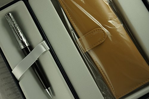 Cross Executive Companion Tuxedo Onyx Sauvage with Exotic Zebra engraving Collection Ivory and Polished Appointments, Ballpoint Pen and matching Genuine leather Leather Pouch ()