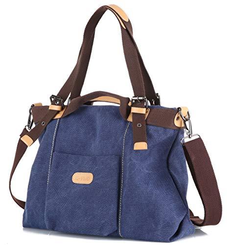(Z-joyee Women's Casual Vintage Hobo bags Canvas Shoulder Handbag Daily Purse Top Handle Tote Shopper Bags)