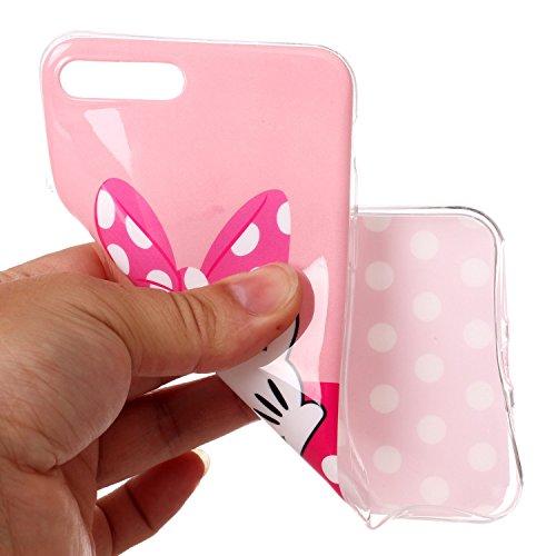 iPhone 7 Plus Hülle Netter Bowknot Premium Handy Tasche Schutz Schale Für Apple iPhone 7 Plus + Zwei Geschenk