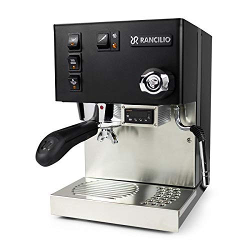 Rancilio Silvia Semi-Automatic Espresso Machine w/PID Controller Installed (Black)