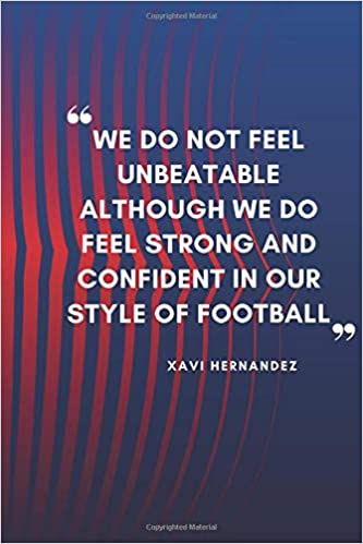 xavi hernandez quote planner for fc barcelona fans lined notebook