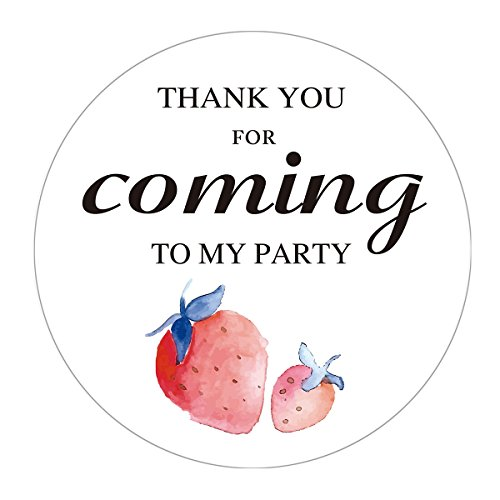 Strawberry Schnapps - MAGJUCHE Strawberry Stickers, Watercolor Strawberry Fruit Birthday Party Favors Labels, 2 Inch, 40-Pack