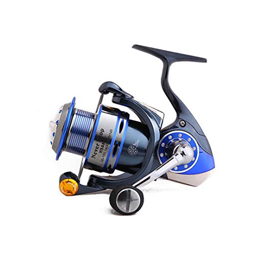 KEHAINIU Spinning Fishing Reel, 13+1BB Saltwater Fishing Reel, Full Metal Construction Extremely Stronger Smooth Blue 14 2500 Series