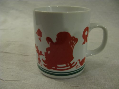 Avon Santa - 1984 Collectible Vintage Avon Christmas Santa and His Elf's Holiday Drinking Coffee Mug Cup