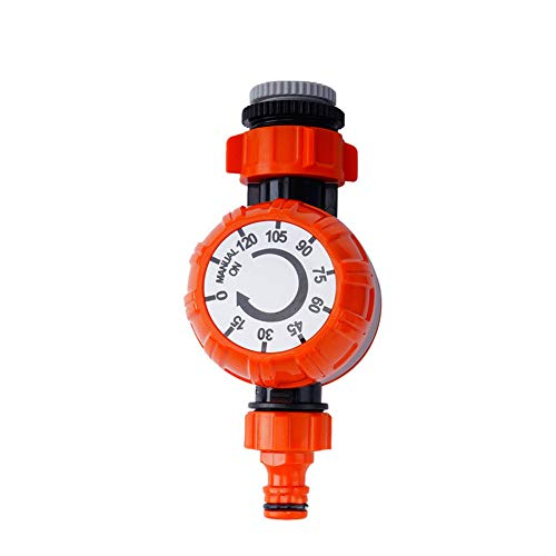 Outdoor Irrigation Timer Digital Watering Timer Outdoor Garden Hose Water Timer Irrigation Controller 1Set Orange