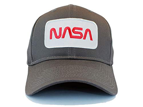 a10e761d8 Amazon.com: NASA Worm RED Text Embroidered Iron On Patch Snapback ...