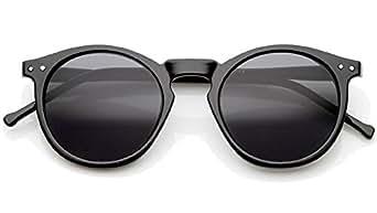 Retro Round Sunglasses P3 keyhole Black Sunglasses Thin Frame