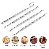 4 Pcs Dental Tools Dental Pick Set of Stainless