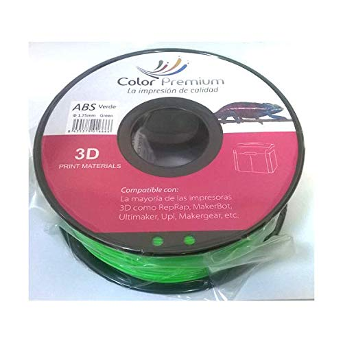 Bobina para impresora 3D 1.75 mm 1KG (Verde, ABS): Amazon.es ...