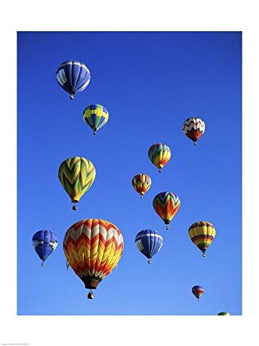 Hot air Balloons Rising, Albuquerque International Balloon Fiesta Art Print, 20 x 26 inches