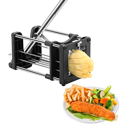 Meshist French Fry Cutter Potato Chipper with 2 Interchangeable Stainless Steel...