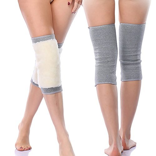 Ausom Women Men Thicken Cashmere Wool Winter Warm Thermal Knee Warmers Leg Warmers Sleeve Knee Brace Support Pads for Arthritis Dance ()