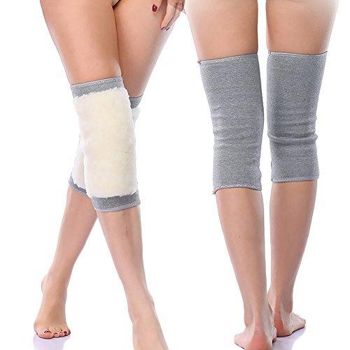 Ausom Women Men Thicken Cashmere Wool Winter Warm Thermal Knee Warmers Leg Warmers Sleeve Knee Brace Support Pads for Arthritis Dance Yoga ()