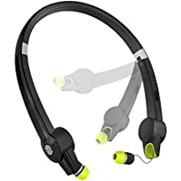 SMARTOMI Hap-2 Foldable Neckband Headset V4.1 Wireless Bluetooth Headphones 10 Hours Stereo Music Time Retractable Earbuds with Built-in Mic for iOS and Android Smartphones Tablet