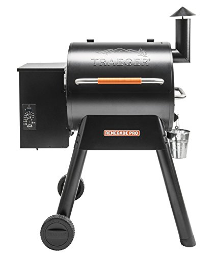 Traeger Grills TFB38TOD Renegade Pro Pellet Grill and Smoke 380 Sq. in. Cooking Capacity, Black/Orange ()