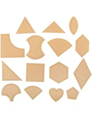 Acrylic Template 54 Pcs Quilting Template Multiple Shaped Acrylic Quilt Stencil Template DIY Tool for Quilting