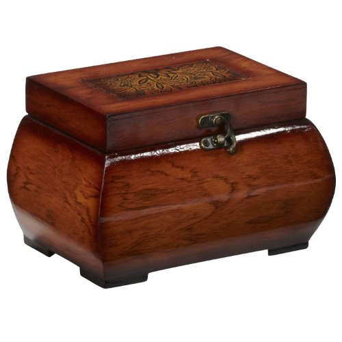 New Decorative Lacquered Wood Chests (Set of 2) NA by Generic (Image #3)