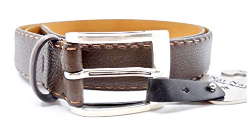 Nat Nast Belt Luxury Italian Leather Nordstrom Rack  40  Brown Rust Stitches
