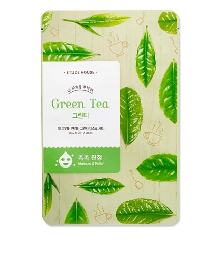 Etude House Take Care of My Skin MASK SHEET [Green Tea], 5Sheets
